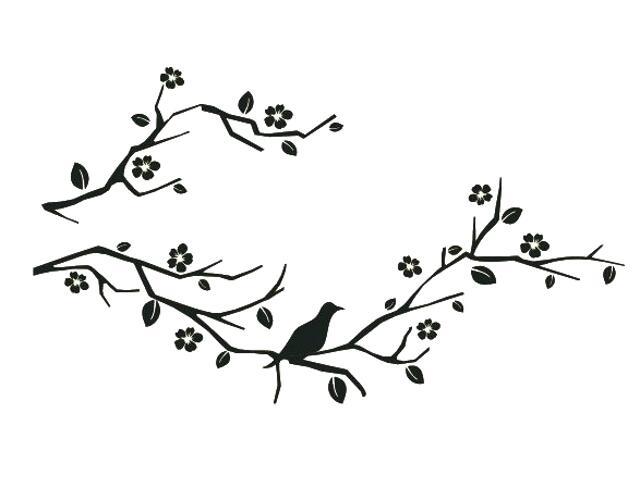 Naklejka dekoracyjna welurowa gałązki 675035-7 Klimaty Domu