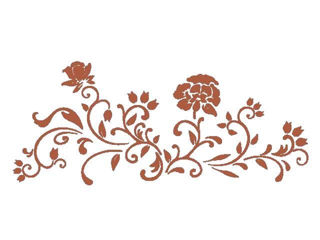 Naklejka dekoracyjna welurowa kwiaty 675037-2 Klimaty Domu