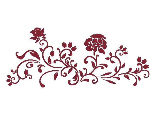 Naklejka dekoracyjna welurowa kwiaty 675037-11 Klimaty Domu