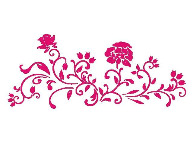 Naklejka dekoracyjna welurowa kwiaty 675037-15 Klimaty Domu