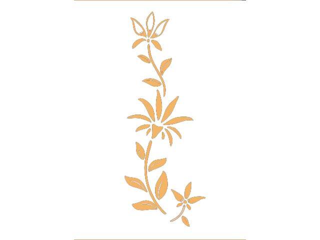 Naklejka dekoracyjna welurowa roślina 675038-14 Klimaty Domu