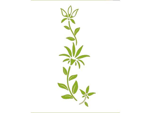 Naklejka dekoracyjna welurowa roślina 675038-5 Klimaty Domu