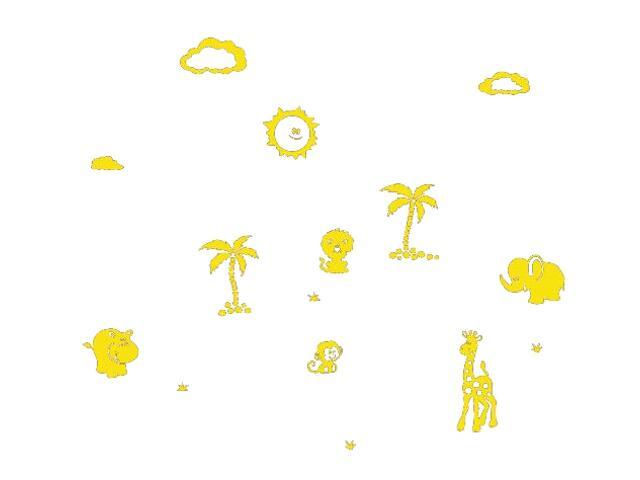 Naklejka dekoracyjna welurowa zwierzęta 675039-3 Klimaty Domu
