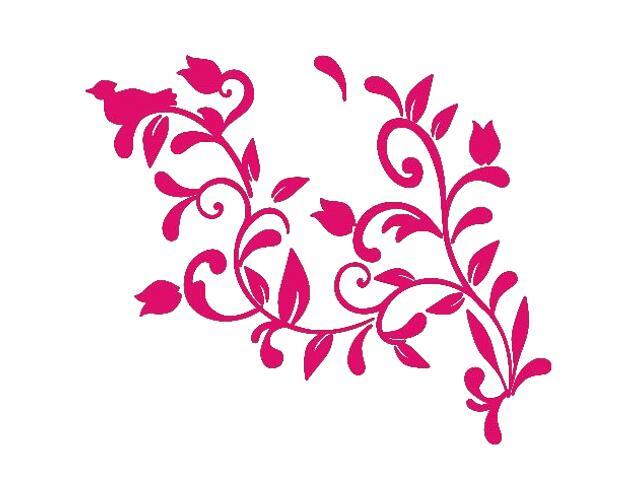 Naklejka dekoracyjna welurowa roślina 675005-15 Klimaty Domu