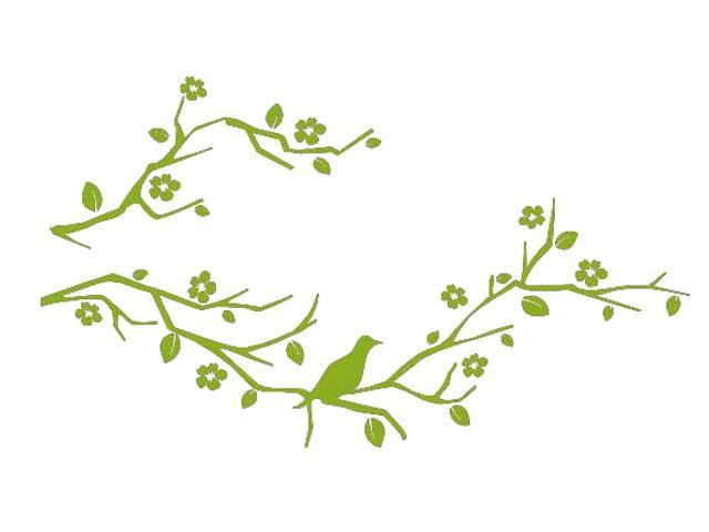 Naklejka dekoracyjna welurowa gałązki 675035-5 Klimaty Domu