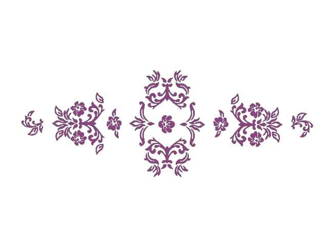 Naklejka dekoracyjna welurowa ornament 672004-16 Klimaty Domu