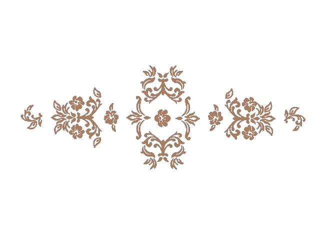 Naklejka dekoracyjna welurowa ornament 672004-8 Klimaty Domu