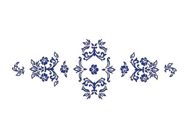 Naklejka dekoracyjna welurowa ornament 672004-13 Klimaty Domu