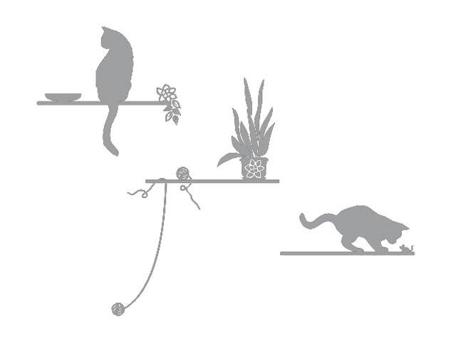 Naklejka dekoracyjna welurowa koty 672005-12 Klimaty Domu