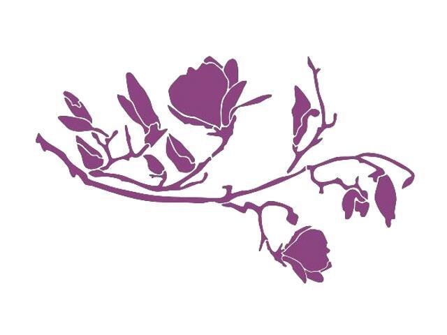 Naklejka dekoracyjna welurowa rośliny 675050-16 Klimaty Domu