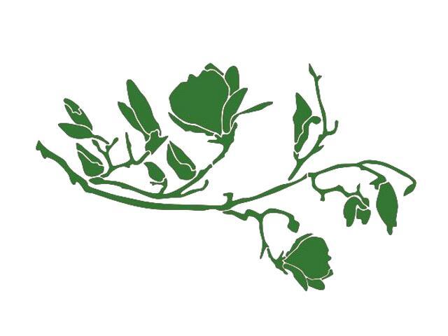 Naklejka dekoracyjna welurowa rośliny 675050-9 Klimaty Domu