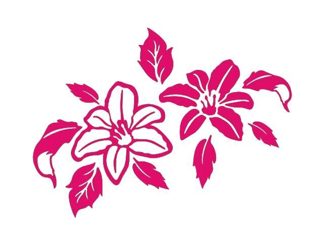 Naklejka dekoracyjna welurowa kwiaty 675051-15 Klimaty Domu