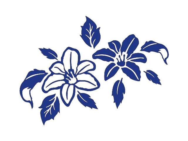 Naklejka dekoracyjna welurowa kwiaty 675051-13 Klimaty Domu