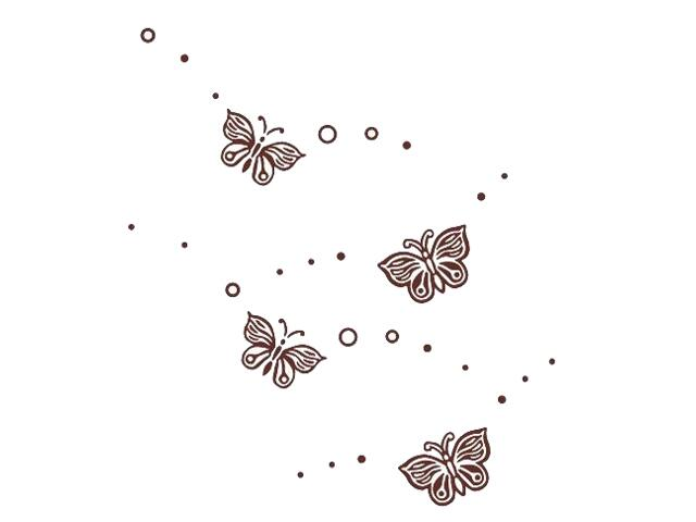 Naklejka dekoracyjna welurowa motyle 675052-17 Klimaty Domu
