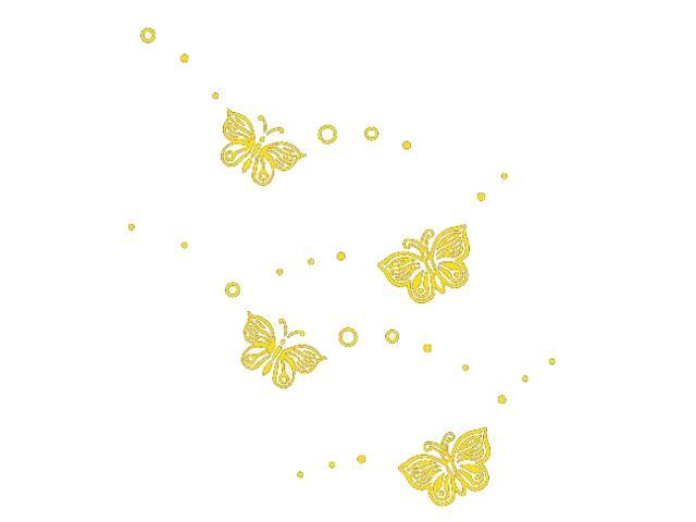 Naklejka dekoracyjna welurowa motyle 675052-3 Klimaty Domu