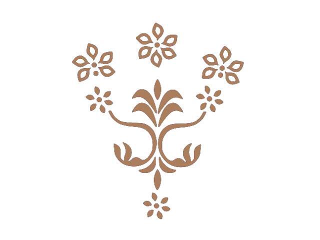 Naklejka dekoracyjna welurowa kwiaty 675053-8 Klimaty Domu