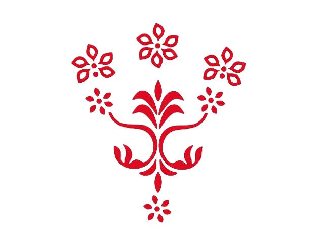 Naklejka dekoracyjna welurowa kwiaty 675053-6 Klimaty Domu