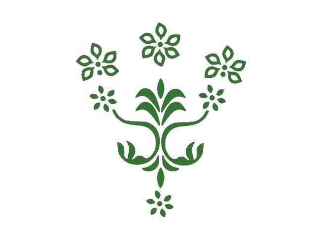 Naklejka dekoracyjna welurowa kwiaty 675053-9 Klimaty Domu
