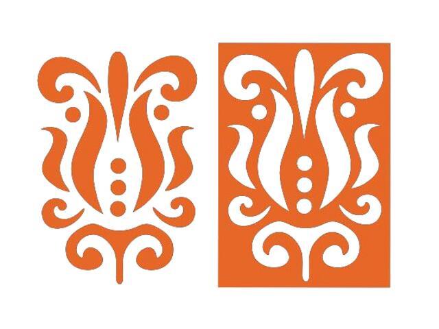 Naklejka dekoracyjna welurowa ornament 675054-1 Klimaty Domu