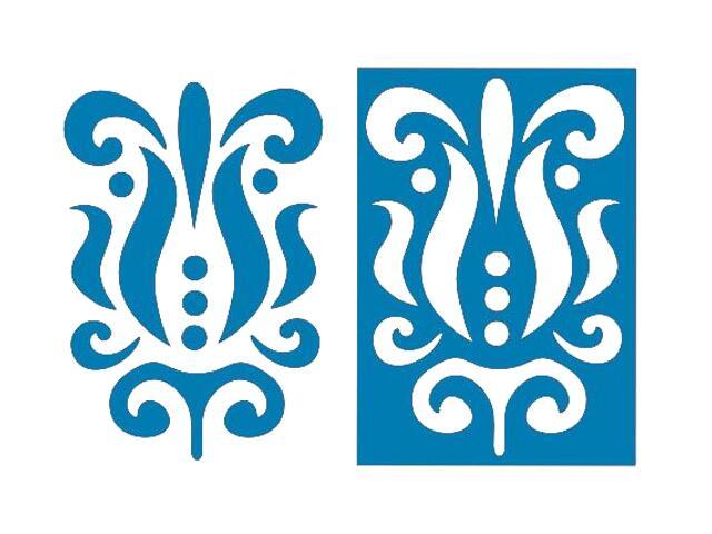Naklejka dekoracyjna welurowa ornament 675054-4 Klimaty Domu