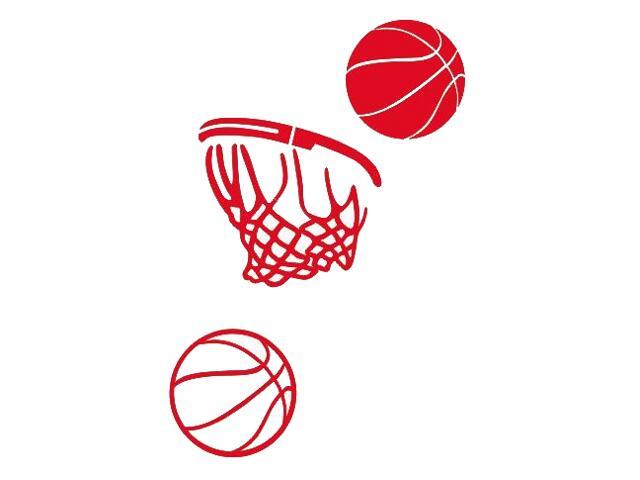 Naklejka dekoracyjna welurowa koszykówka 675063-6 Klimaty Domu