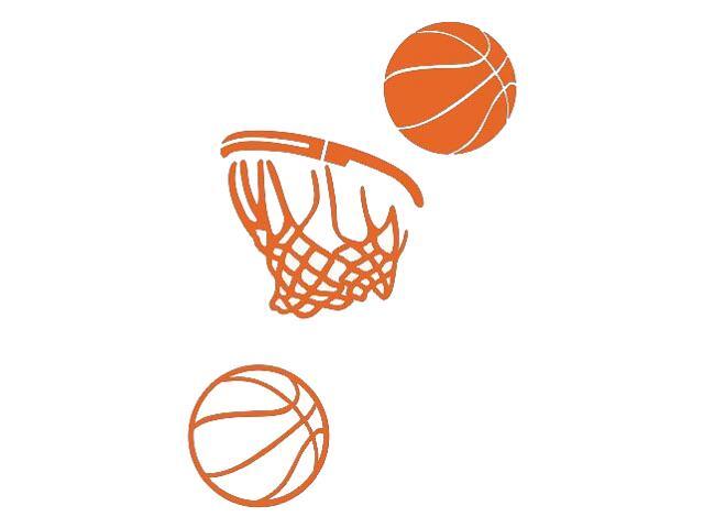Naklejka dekoracyjna welurowa koszykówka 675063-1 Klimaty Domu