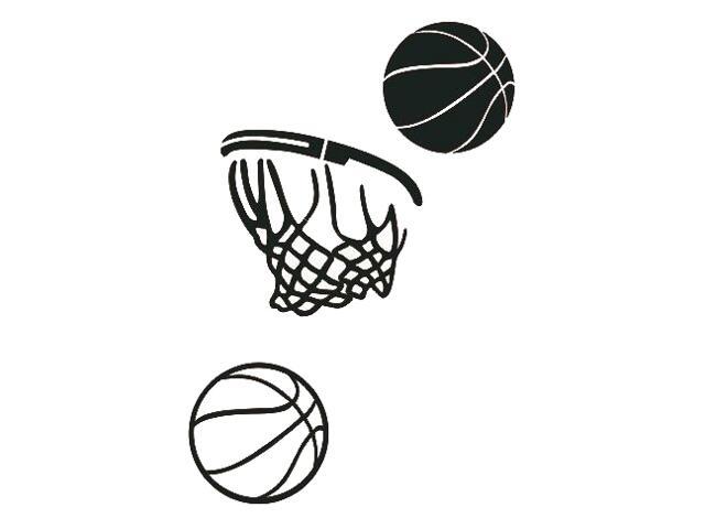 Naklejka dekoracyjna welurowa koszykówka 675063-7 Klimaty Domu