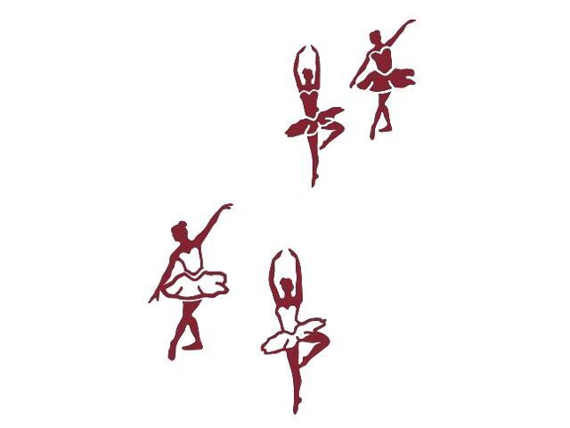 Naklejka dekoracyjna welurowa baletnice 675065-11 Klimaty Domu