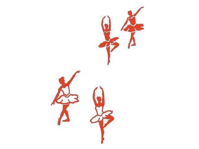 Naklejka dekoracyjna welurowa baletnice 675065-18 Klimaty Domu