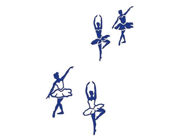 Naklejka dekoracyjna welurowa baletnice 675065-13 Klimaty Domu
