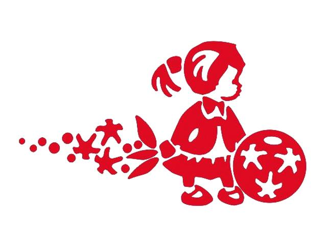 Naklejka dekoracyjna welurowa dziewczynka 675066-6 Klimaty Domu