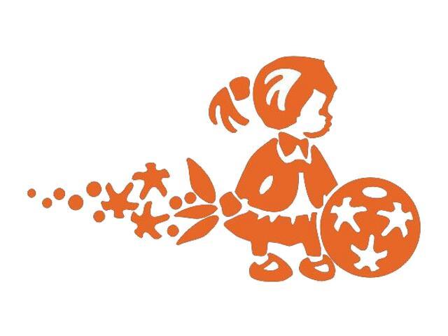 Naklejka dekoracyjna welurowa dziewczynka 675066-1 Klimaty Domu