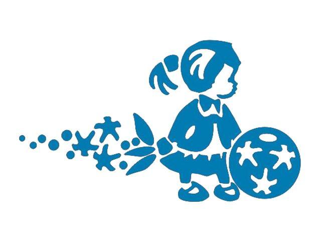 Naklejka dekoracyjna welurowa dziewczynka 675066-4 Klimaty Domu