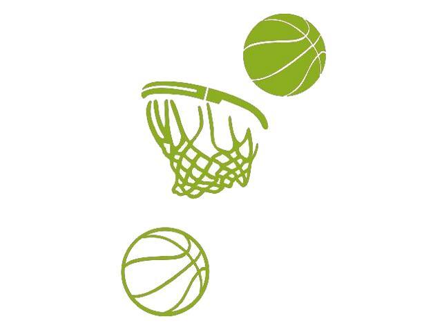 Naklejka dekoracyjna welurowa koszykówka 675063-5 Klimaty Domu