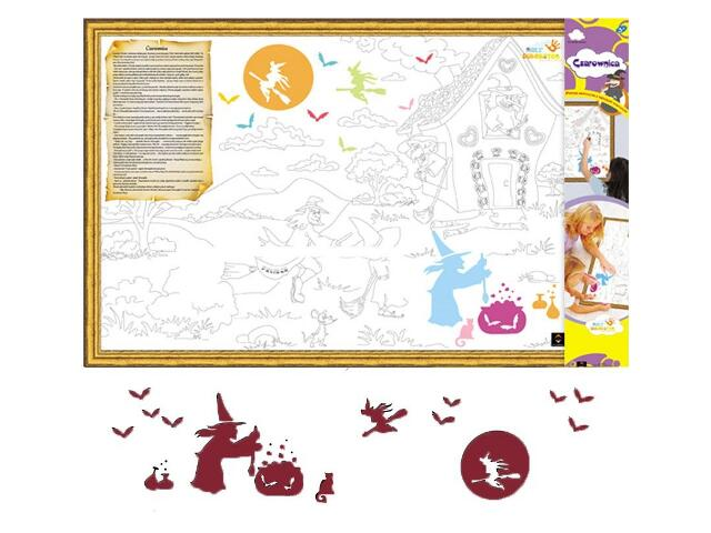 Naklejka dekoracyjna welurowa czarownice MD 673036-11 Klimaty Domu