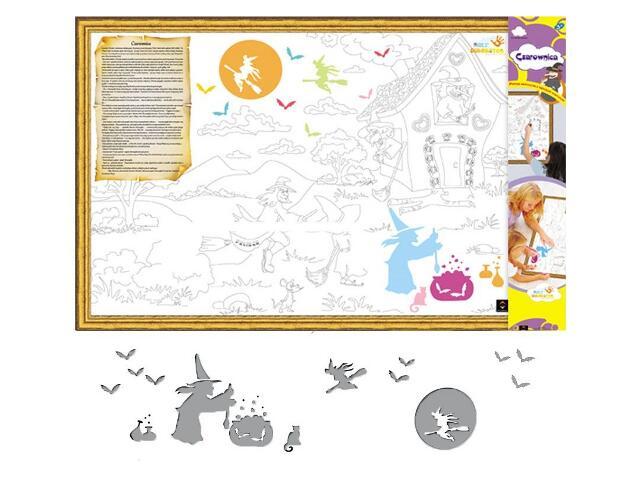 Naklejka dekoracyjna welurowa czarownice MD 673036-12 Klimaty Domu