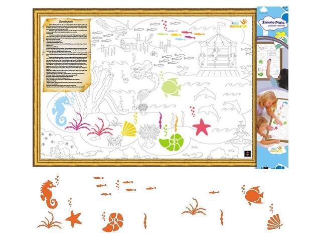 Naklejka dekoracyjna welurowa rybki MD 673062-1 Klimaty Domu