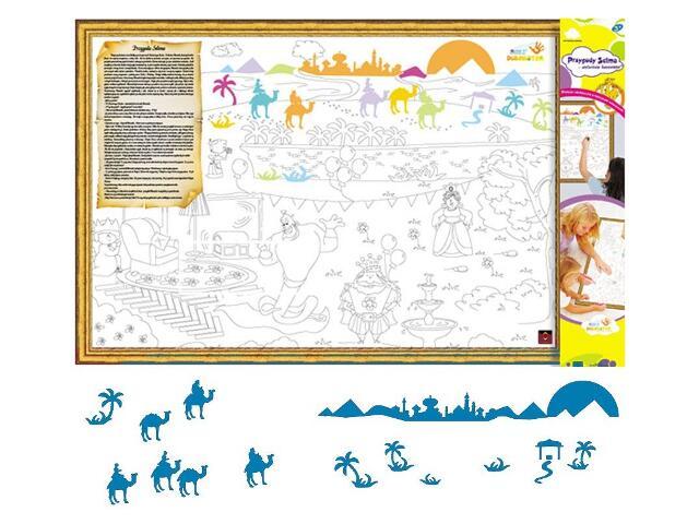 Naklejka dekoracyjna welurowa wielbłądy MD 673066-4 Klimaty Domu