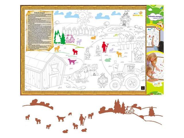 Naklejka dekoracyjna welurowa wieś MD 673070-2 Klimaty Domu