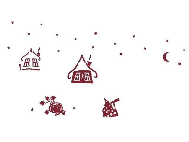Naklejka dekoracyjna welurowa czarownice 673037-11 Klimaty Domu
