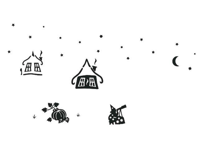 Naklejka dekoracyjna welurowa czarownice 673037-7 Klimaty Domu