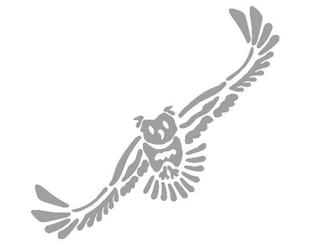 Naklejka dekoracyjna welurowa sowa 673038-12 Klimaty Domu