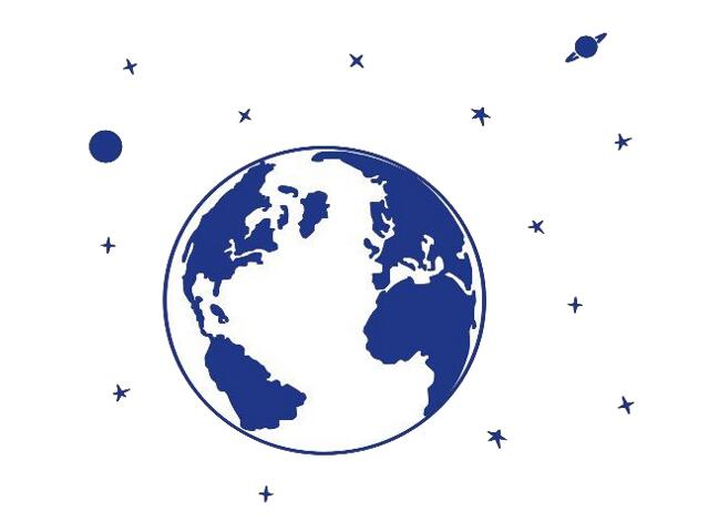 Naklejka dekoracyjna welurowa planety 673039-13 Klimaty Domu