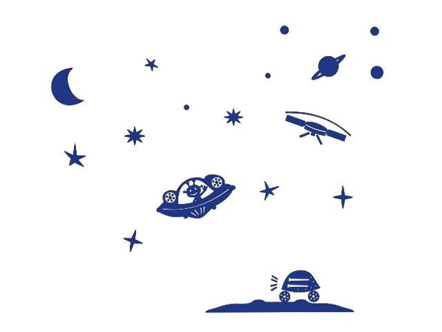 Naklejka dekoracyjna welurowa planety 673040-13 Klimaty Domu