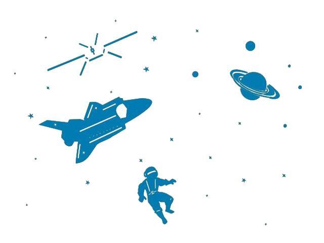 Naklejka dekoracyjna welurowa kosmos 673041-4 Klimaty Domu