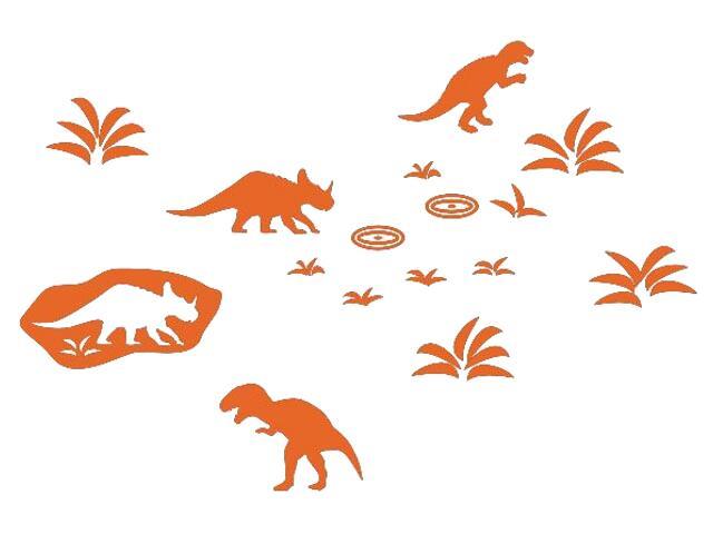 Naklejka dekoracyjna welurowa dinozaury 673042-1 Klimaty Domu