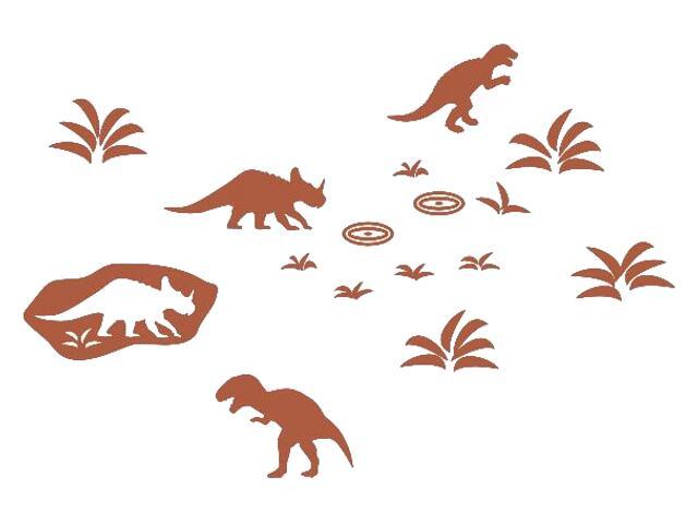 Naklejka dekoracyjna welurowa dinozaury 673042-2 Klimaty Domu