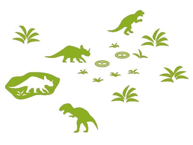 Naklejka dekoracyjna welurowa dinozaury 673042-5 Klimaty Domu