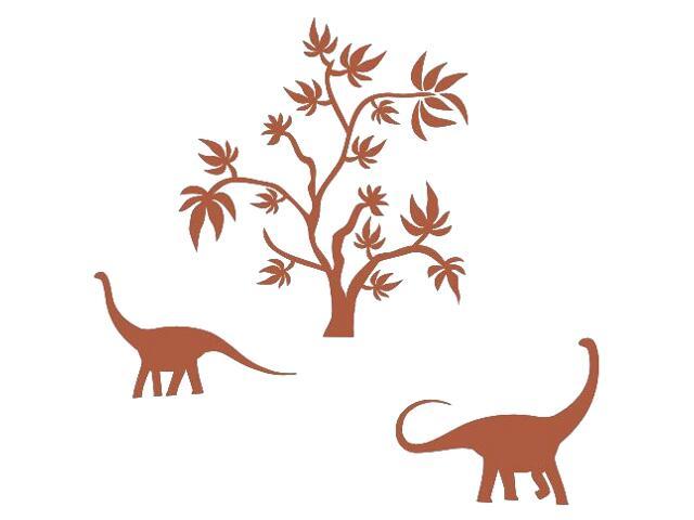 Naklejka dekoracyjna welurowa dinozaury 673043-2 Klimaty Domu
