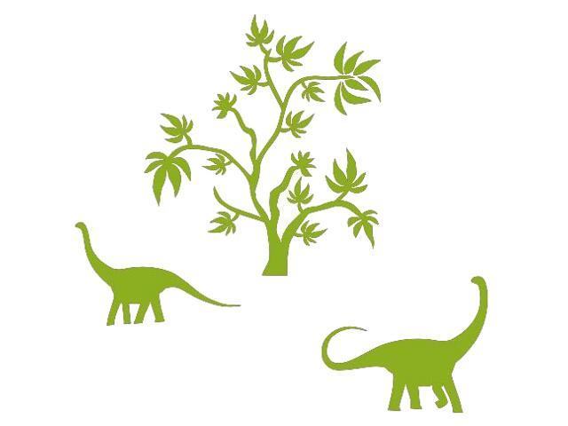 Naklejka dekoracyjna welurowa dinozaury 673043-5 Klimaty Domu